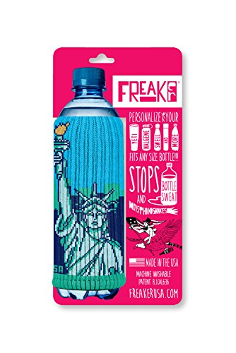 FREAKER Fits Every Bottle Can Beverage Insulator, Stops Bottle Sweat, Statue of Liberty NYC New York City -