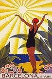 SUNSHINE BARCELONA SPAIN GIRL WELCOMING THE SUN SAILING TRAVEL 12