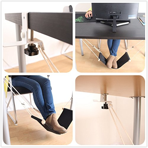 Hola-Holy Foot Hammock Under Desk Office with Holder:...