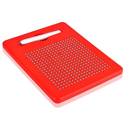 GGGarden Magnetic Tablet Stylus Wordpad Drawing Stencils Plates Beads Board DIY Toy - Red