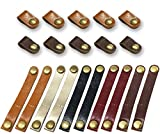 20 Pieces Leather Cable Straps Cable Organizer Cord Management Earphone Wrap Winder for USB Cable Headphone Wire, 2 Sizes