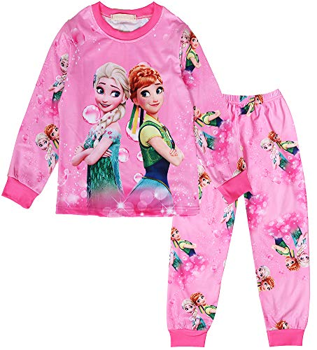 WNQY Little Girls Anna Costume Toddler Christmas Pajama Set -