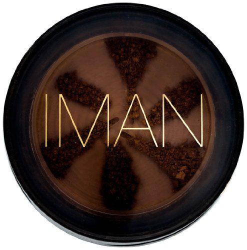 IMAN Cosmetics Semi Loose Powder, Dark Skin, Earth Dark (Best Loose Powder For Combination Skin)