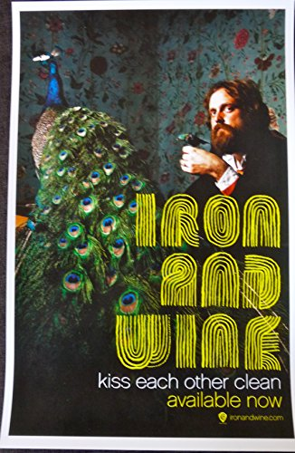 Iron and Wine - Kiss Each Other Clean - Rare Advertising Poster