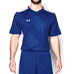 Under Armour Men's Fixture Soccer Jersey, Royal (400)/White, XX-Large