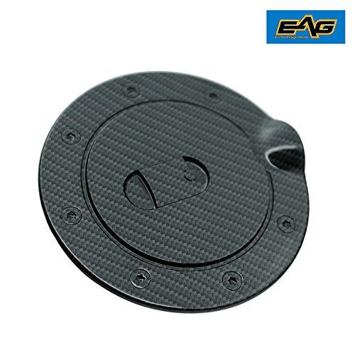 (EAG 02-08 Dodge Ram 1500/03-09 Dodge Ram 2500/3500 Gas Door Cover Black Carbon Fiber Look ABS)