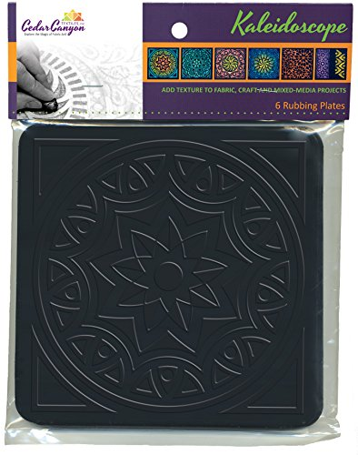 Plate Square Cedar Elements (Kaleidoscope: Artist's Paintstiks Rubbing Plates (Package of 6))