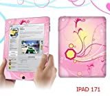 iPad Premium Quality Decal Skin Sticker - Flowers on Pink
