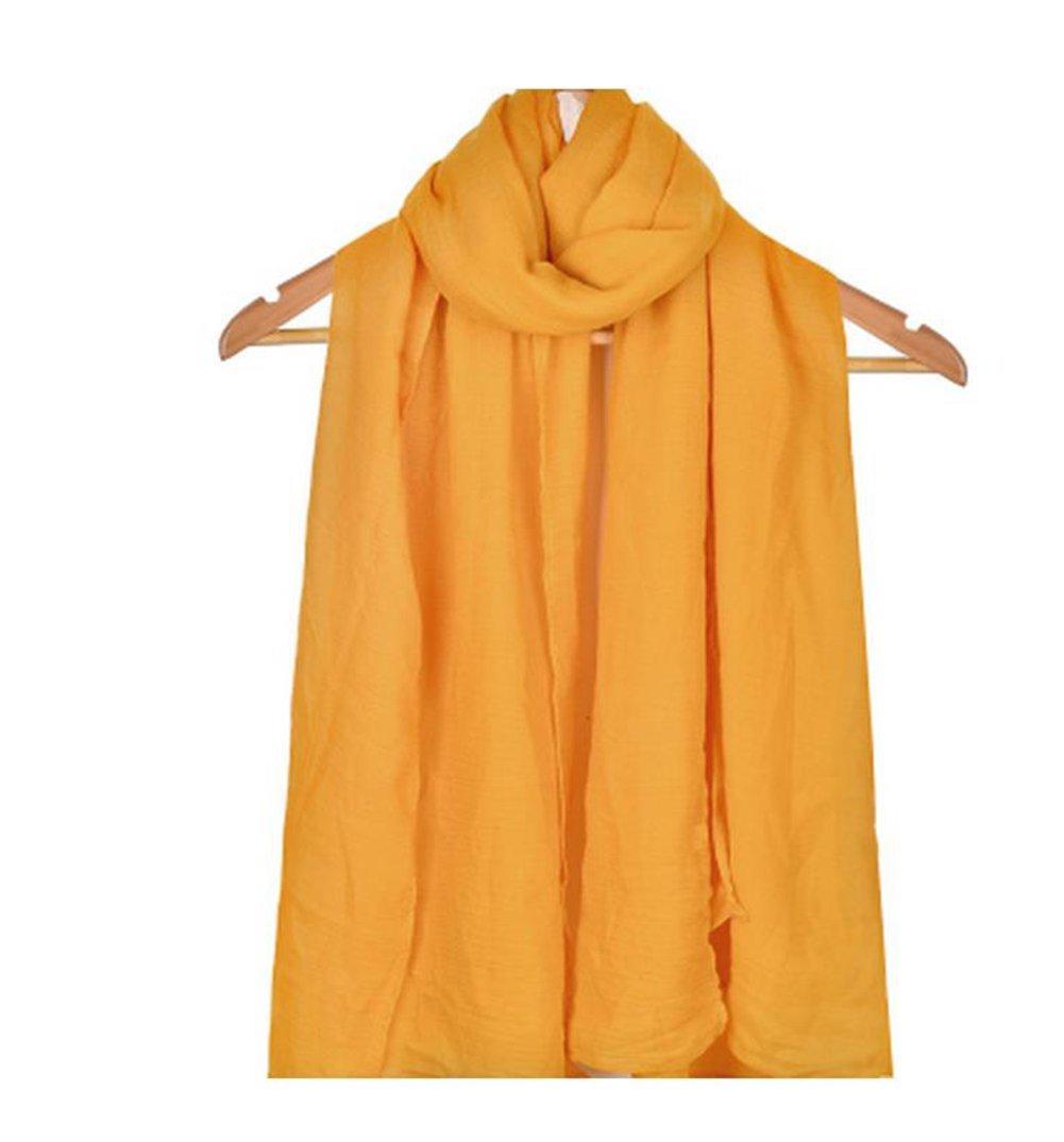 Gespout Elegante Sciarpa da Donna Monocromatico Cotone Liscio e lo Scialle di Lino Sciarpa per Protezione Solare da Viaggio All'aperto Regalo Perfetto per Moglie e Figlia