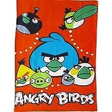 BRANDONN Angry Bird Fleece Bedding Cum Baby Bedsheet Baby Blanket (96.52 Cm X 147.32 Cm, Orange)