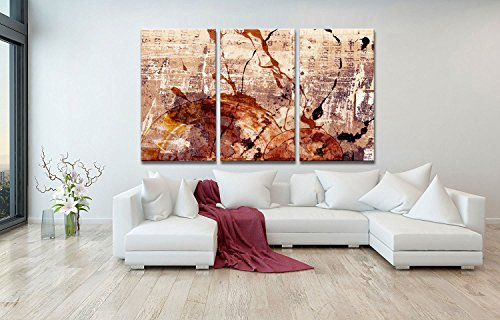 canvas wall art Abstract painting Canvas Print Paintings for Wall and Home Decor (14inchx30inchx3) by youkuart