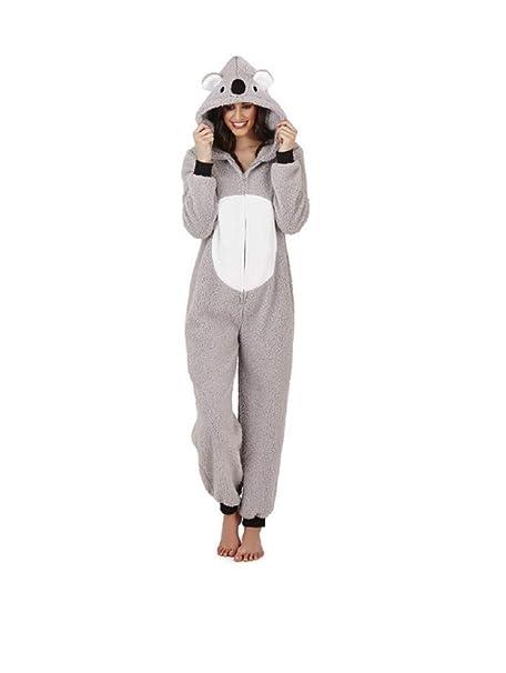 fff825601614 Womens Onesie Fleece Animal Size 8 10 12 14 16 18 20 22 Christmas Gift Warm  Cosy  Amazon.co.uk  Clothing