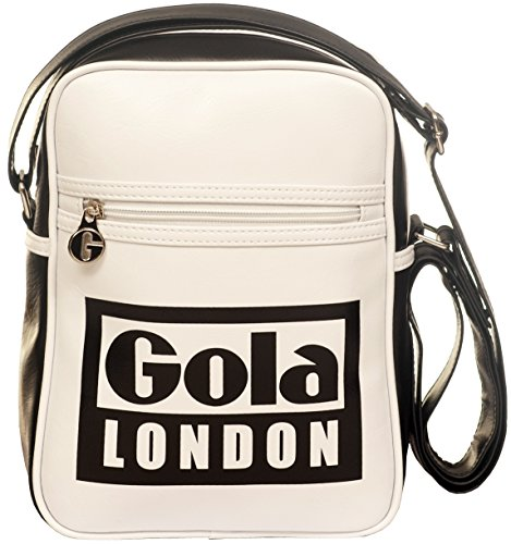 Borsa GOLA Verticale Mini Bronson London - ZCUB389WB 27x20 - White/Black