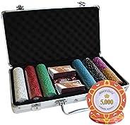 300 Ct Monte Carlo Poker Room 14 gram Poker Chip Set Aluminum Case Custom Build