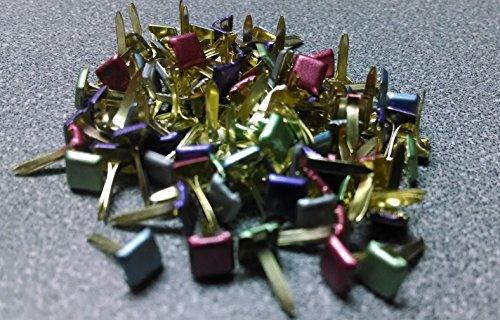 - Pearl Colored Mini Square Brads - Bulk 100ct