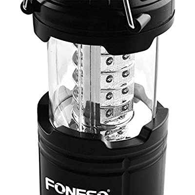 LED Camping Lantern, Foneso Ultra Bright Portable Outdoor Flashlights, Emergency Collapsible Lantern Lights with Metal Hook Loop