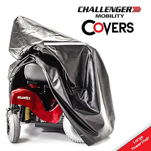(Challenger Mobility CMC-324 Vinyl Lightweight Weather Cover for Jazzy Power Chair, Large Size)