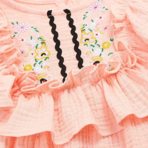 59a68660ec23 Winsummer Toddler Kid Baby Girls Embroidery Floral Sleeveless Ruffle Princess  Dress Party Beach Sundress Skirt