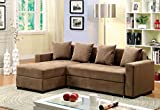 Furniture of America Laurence Sectional Sofa Sleeper with Storage