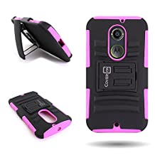 CoverON® for Motorola Moto X (2nd Gen, 2014) Belt Clip Holster Case [Explorer Series] Hybrid Heavy Duty Protective Phone Cover with Kickstand - ( Hot Pink / Black )