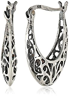 Sterling Silver Bali-Inspired Filigree Round Hoop Earrings (B0035LBXUM)   Amazon Products