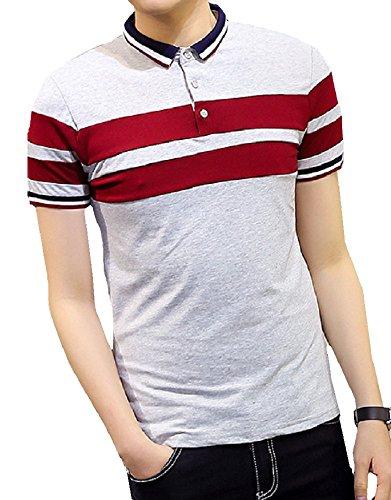 Heaven Days(ヘブンデイズ) ポロシャツ ゴルフシャツ ボーダー トリコロール シンプル 半袖 メンズ 1706G0721