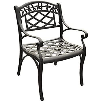 Crosley Furniture Sedona Solid Cast Aluminum Outdoor Arm Chair   Black (Set  Of 2