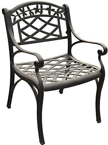 Crosley Furniture Sedona Solid-Cast Aluminum Outdoor Arm Chair - Black (Set of 2)