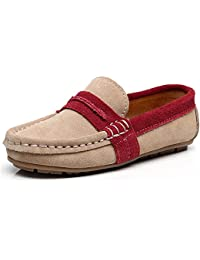 Boy's Slip-On Mixed Color Dress Suede Leather Loafers Shoes