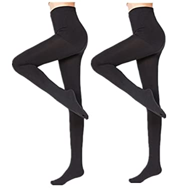54cb5d250762b 2 Pairs Women Winter Thick Warm Fleece Lined Thermal Stretchy Pantyhose  Tights: Amazon.co.uk: Clothing