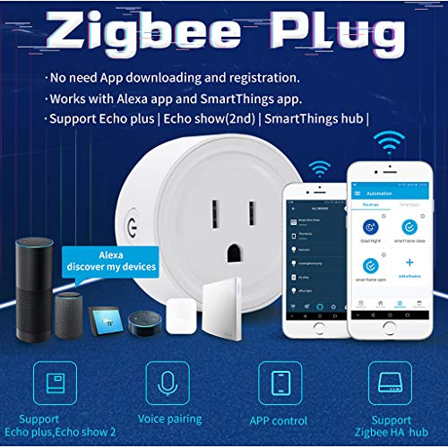 4PC Zigbee Smart Plug Outlet Compatible With Alexa, Echo, SmartThings Hub, alexa outlet,Smart switches Remote Control Your Home Appliances from Anywhere,alexa accessories