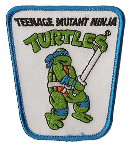 [Teenage Mutant Ninja Turtle Action Figure Iron on Patch (Leonardo)] (Full Ninja Turtle Costume)