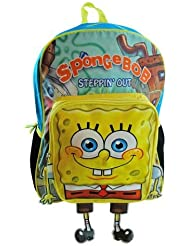 16 Large Spongebob Squarepants Backpack 3d Pocket Boys Girls School Book Bag
