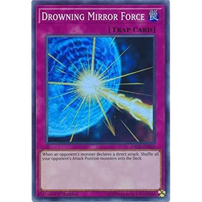 Drowning Mirror Force - DASA-EN045 - Super Rare - 1st Edition: Toys & Games