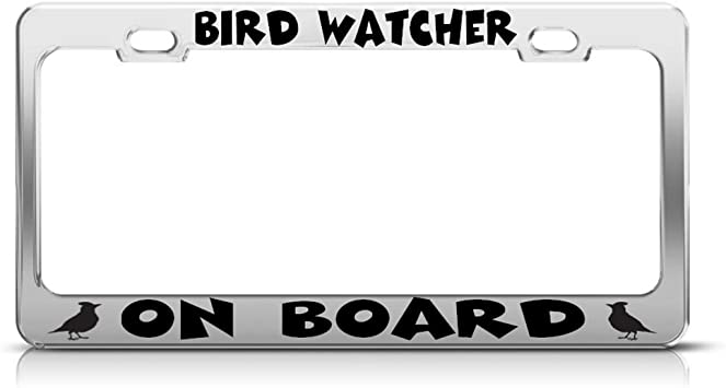 Speedy Pros OCFD Obsessive Compulsive Fishing Disorder License Plate Frame Tag Holder Chrome
