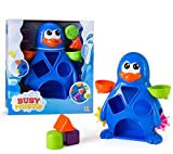 Busy Penguin Baby Bath Toy - Shape Sorter & Water Wheel Action Bath-time