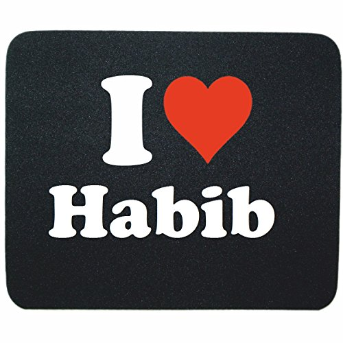 exklusiv-mousepad-i-love-habib-in-black-a-great-gift-idea-for-your-partner-colleagues-and-many-more