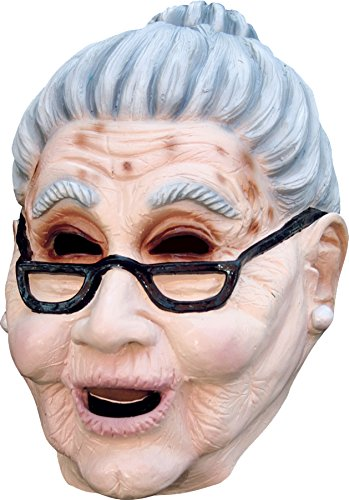 Ghoulish Women's Realistic Old Lady Grandma Party Latex Mask Halloween -