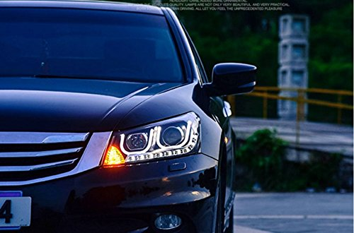 GOWE car Styling Head lamp for Honda Accord 2008-2013 LED Headlight DRL H7/D2H HID Xenon bi xenon lens Color Temperature:6000K;Wattage:55K 2