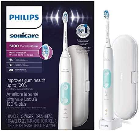 Philips Sonicare ProtectiveClean 5100 Rechargeable Electric Toothbrush, White HX6857/11