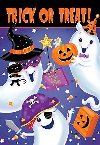 Briarwood Lane Trick or Treat Halloween House Flag Ghosts Spooky Candy Jack O'Lantern 28
