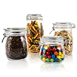 Mastertop Household 4 Pieces/Set Airtight Glass Jar with Lid Waterproof and Impermeable Storage Jars 1.5L 1L Multi-Purpose Food Container