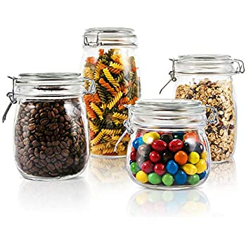 Amazon Com Homequip 5 Piece Airtight Canister Set With