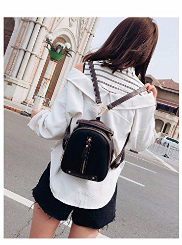 MSZYZ Double Shoulder Bag female kleine Tasche weibliche Mode Mini Pack, Schwarz