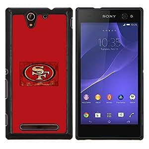 SF- Metal de aluminio y de plástico duro Caja del teléfono - Negro - Sony Xperia C3 D2533 / C3 Dual D2502