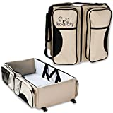 Changing Pad for Crib Changer Combo Koalaty 3-in-1 Universal Infant Travel Tote: Portable Bassinet Crib, Changing Station, and Diaper Bag for Newborns or Baby and Disposable Bag Dispenser