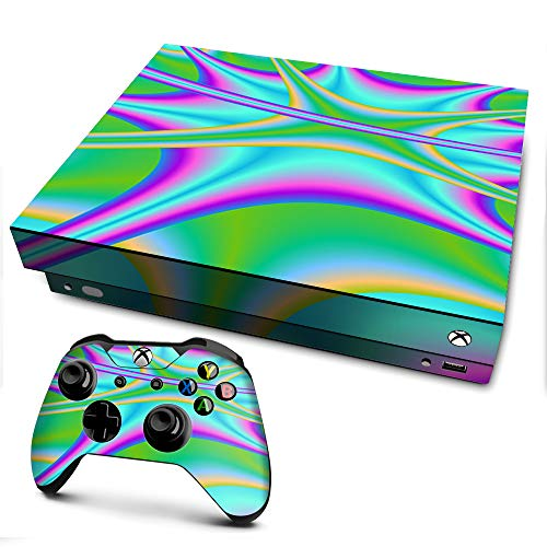 IT'S A SKIN Xbox One X Console & Controller Decal Vinyl Wrap | Multi Swirl Marble Granite