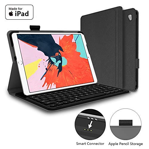 Mangotek iPad Pro Keyboard Case, 10.5 inch iPad Pro Air Wireless Smart Connector Keyboard. Slim Combo Lightweight Folio PU Leather Cover for iPad Pro Air (2019) 10.5