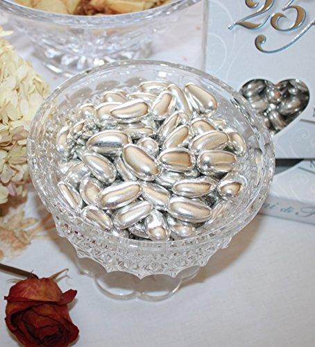 Silver Jordan Almonds 1LB Bag (One Pound) ()