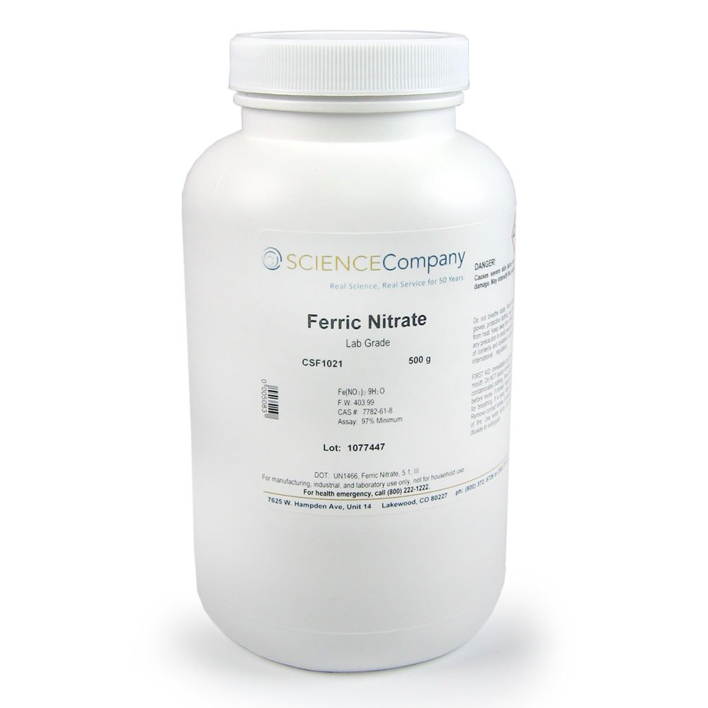 The Science Company, NC-11272, Ferric Nitrate, 500g